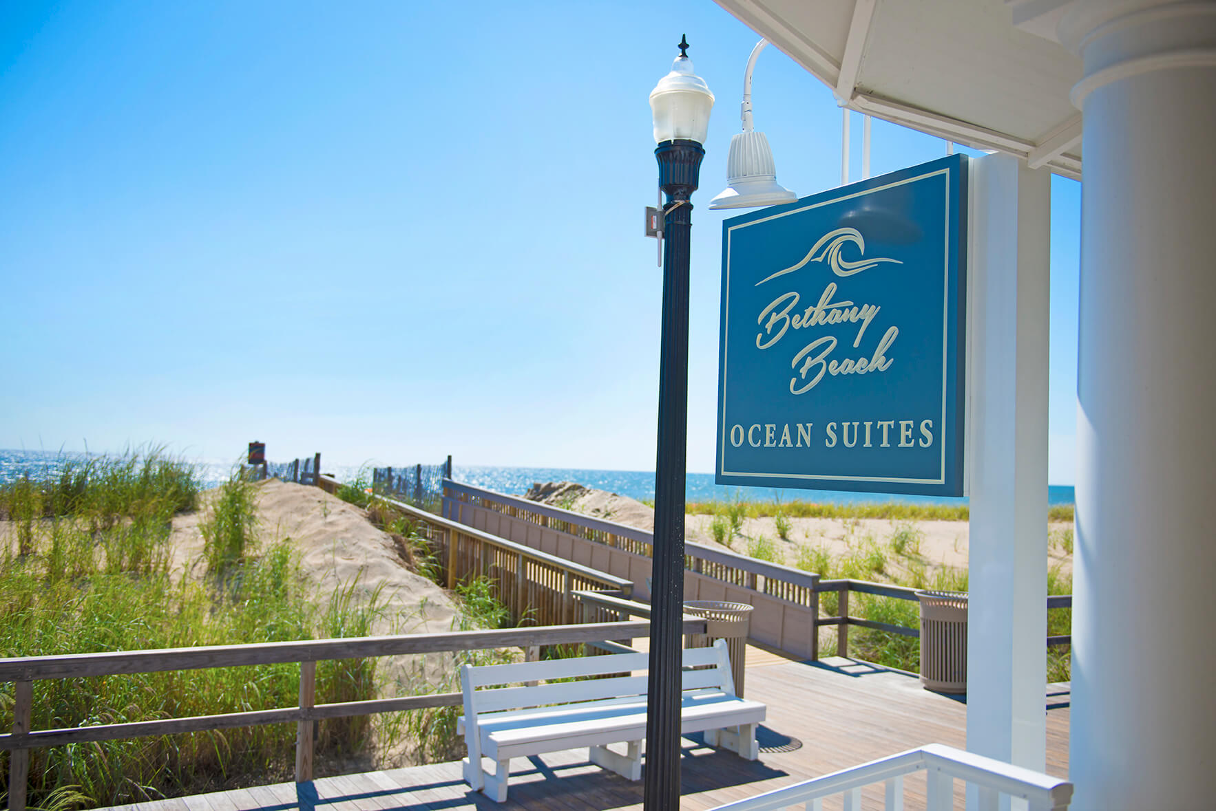bethany beach ocean suites sign