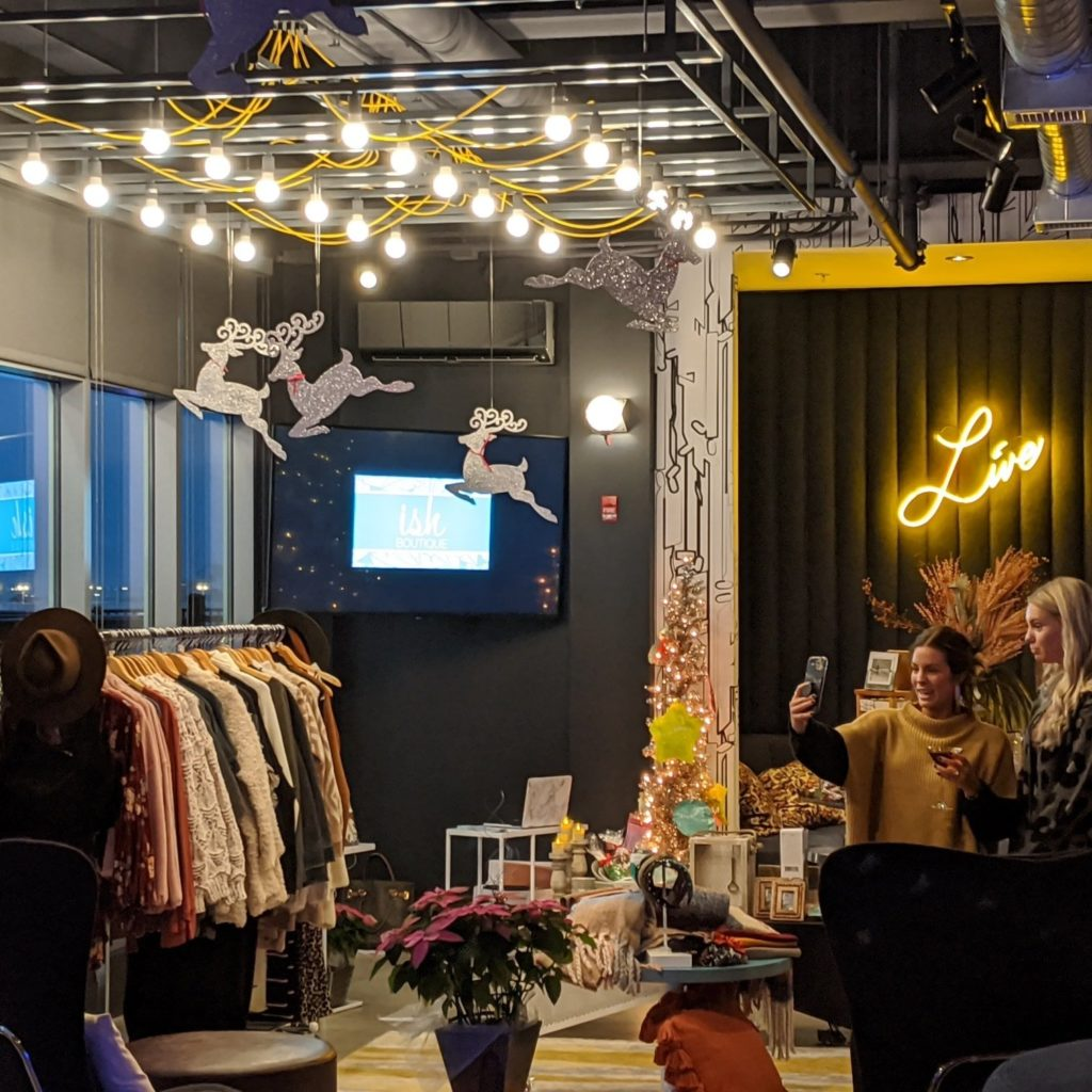 aloft pop up holiday shop