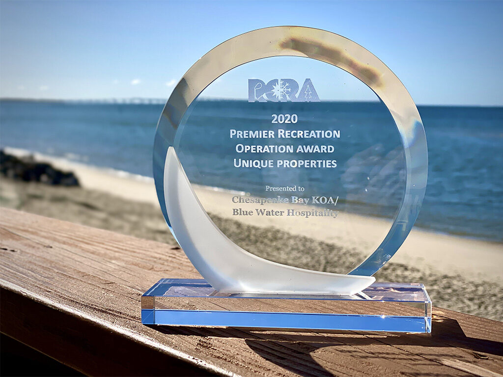 Chesapeake Bay KOA wins Premier Recreation Award from Resort & Commercial Recreation Association