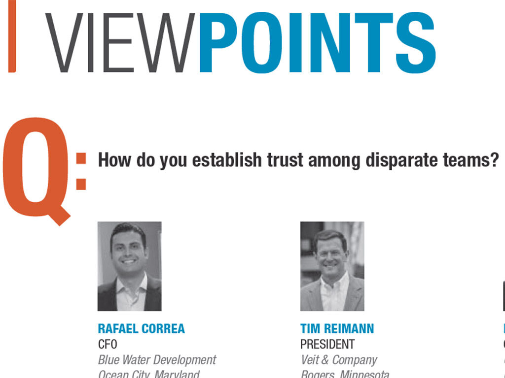 Blue Water CFO Correa featured in Construction Executive's October Viewpoints Q&A